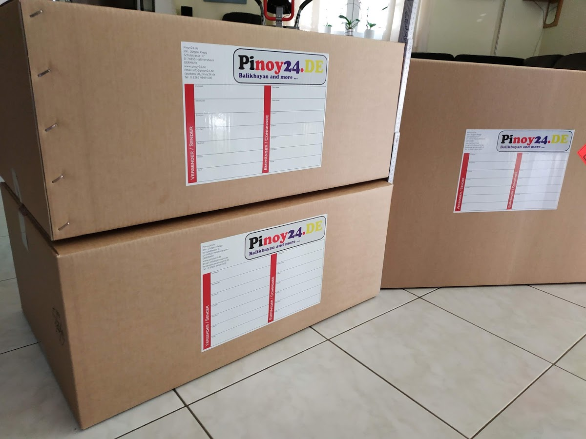 Halbe Balikbayan Box Flatrate Philippinen inkl Karton